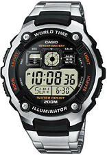 Casio Uhr AE-2000WD-1AVEF Digital Herren Edelstahl Resin Chrono 20 ATM neu