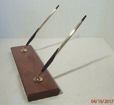 Cross Ballpoint Pen and Pencil 1/20th 12K GF Desk Set Walnut Base H729