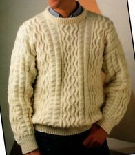 "2518 MAN/'S ARAN CABLE SWEATERS SIZES 38-44/"" KNITTING PATTERN"
