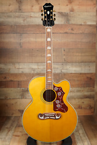 Epiphone EJ-200SCE Aged Natural Antique Gloss