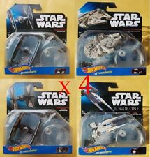 Lote x4 NAVE STAR WARS HOT WHEELS Disney Mattel.