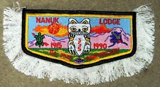 OA NANUK 355 W ALASKA COUNCIL PATCH POLAR BEAR 75TH ANN w/ FRINGE SERVICE FLAP