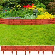 vidaXl 11x Garden Fence Boarder 16.4 ft Fencing Edging Picket Lawn Panel Red