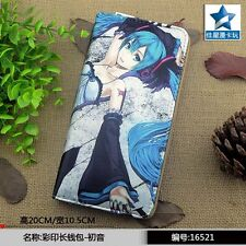 2016 Hot Selling Anime Hatsune Miku Colorful Long PU Wallet/Cell Phone Purse