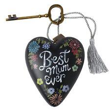 Best Mum Ever Heart Art - Heart and Key  -  Boxed Keepsake Gift idea