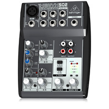 DJ Mixer Behringer XENYX502 5 Channel Recording Equipment Mixers and