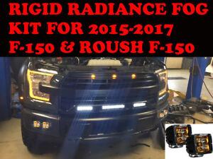 2015-2017 Ford F-150 & ROUSH Custom RADIANCE LED Light FOG Package 17 16 15 2015