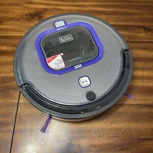 Black+Decker Lithium Ion Robotic Vacuum Model HRV425BL Bluetooth *No Charger*