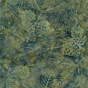 Timeless Treasures Fabrics Tonga Batiks Natures Lodge Pine Cones & Needles Pine