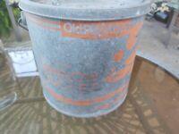 Woodstream Old Pal Non-Floating Minnow Bucket Galvanized Steel
