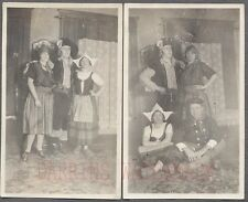 Unusual Vintage 1920s Photos Men & Pretty Girls Pirate Costumes Halloween 707559
