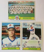 1979 Topps Atlanta Braves Team Set - (27) Cards - Dale Murphy Bob Horner