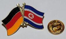 FREUNDSCHAFTSPIN PIN ANSTECKER DEUTSCHLAND / NORDKOREA FAHNE BUTTON METALL PINS