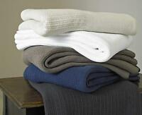 Cellular Throws / Blankets By Great Knot Chester 100% cotton Navy single double