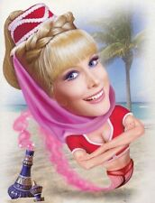 I Dream of Jeannie Caricature 60's TV Series Sticker or Magnet