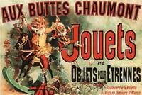 Aux Buttes Chaumont Jouets Jules Cheret Art Print Giant Poster 36x54 inch