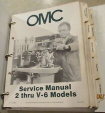 1984 Omc Service Manual 2 thru V-6 Models Ten Sections Part No 394607 1-10