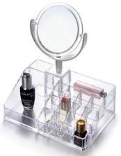 Oxid7® Kosmetik Organizer Acryl Make-Up & Beauty Box mit 3-fach Schmink-Spiegel