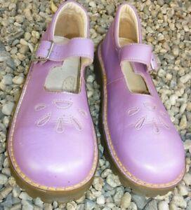 sandales cuir mary jane Doc Dr martens England mauve fille EU 33 UK 1 vintage