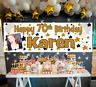 Large Personalised Birthday Banner Photo Gold Black 21st 30th 40th 50th 60th 70t