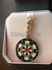 BRAND NEW! JUICY COUTURE DARTBOARD BRACELET CHARM IN TAGGED BOX