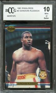 1991 ringlords #2 DONOVAN RUDDOCK boxing BGS BCCG 10
