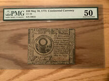 $30 May 10, 1775 Continental Currency Pmg About Uncirculated 50