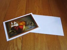 Christmas Card Single Mouth Painter Mariam Pare Ornaments Candles Unused