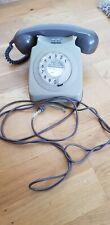 Vintage GPO Type 746F Grey Rotary Telephone