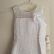 NWT! US ANGELS WHITE DEBUTANTE DRESS W/ PEARLS! GIRLS 12- 14 $99.00+ MUST SEE!!!