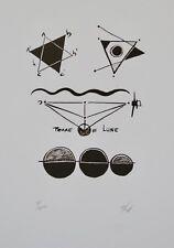Richard TEXIER - Estampe originale - Lithographie - Terre Lune