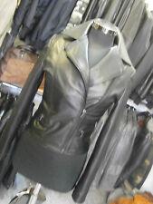 chiodo giacca giubbino in di vera pelle NERA DONNA  TAGLIA S-M-L-XL-XXL