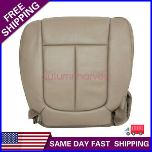 For 2011-2016 Ford F150 F250 Lariat Driver Bottom Perforated Leather Seat Cover