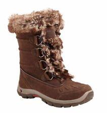 Karrimor Para Mujeres Botas De Esquí Impermeable Nieve Cordova Botas De Gamuza Marrón Talla 3-9