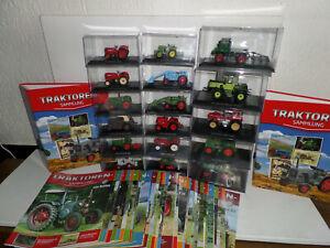 Traktoren-Sammlung Hachette 1:43 top mit Zeitung Auswahl 1- 90 Traktor Deutz IFA