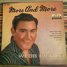 "WEBB PIERCE MORE AND MORE ROCKABILY JAPAN 10""LP"