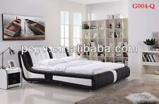 NEW MODERN DESIGNED QUEEN SIZE black & white 2017 PU LEATHER BED FRAME