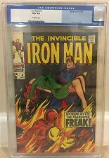 IRON MAN #3 CGC 8.5 HAPPY HOGAN BECOMES THE FREAK LETTERS FROM SIMONSON & GALE