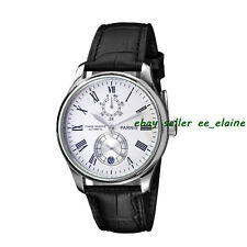 43mm Parnis Silver Case White Dial Power Reserve Automatic Men Watch 4309SW