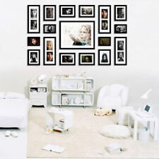 FA 17 Pieces Natural Wood Family Multi Photo Picture Frame Wall Hang Home Decor