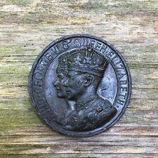 1937 King George VI & Queen Elizabeth 44 mm Bronze Coronation Medal