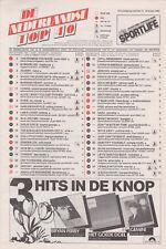 Songcharts / Hitlijst De Nederlandse Top 40 22e jaargang nr.12 22-03-1986