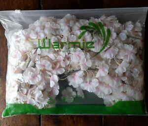 NEW Warmie 2 Pack Artificial Pink Silk Cherry Blossom Hanging Vine Garland