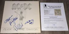 AC/DC SIGNED FLICK OF THE SWITCH VINYL ALBUM ANGUS YOUNG +3 w/ BECKETT BAS LOA