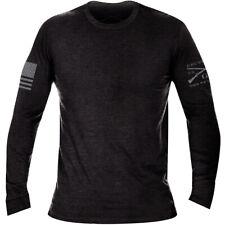 Grunt Estilo Básico Mangas Largas Brezo Camiseta-Negro