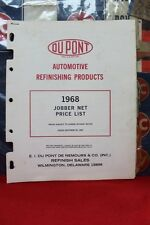 1968 AUTOMOTIVE DU PONT REFINISHING PRODUCTS JOBBER NET PRICE LIST  (145)