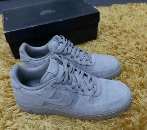 Boxed EUC Mens Triple Grey Nike Air Force 1 AF1 VT Low PRM suede size 11 EU 46