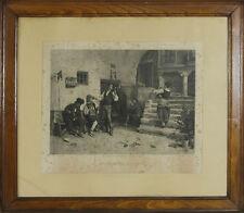 I1-016. BARBIER DISTRAIT. GRAVURE SUR PAPIER. WORMS J.. GOUPIL. 1879.