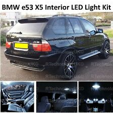 PREMIUM BMW X5 E53 2000-2006 INTERIOR WHITE FULL UPGRADE LED LIGHT BULBS KIT