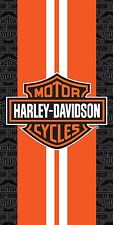 Harley Davidson Racing Stripes Beach Towel 30x60